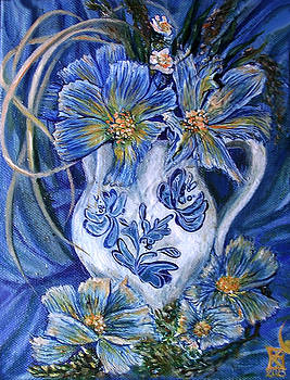 Blue flowers by Safir  Rifas