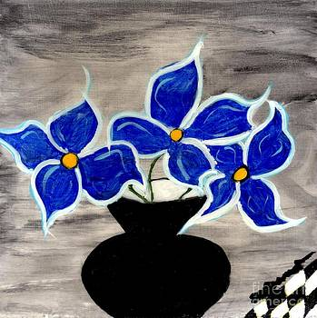 Blue Flowers by Shirley Barone