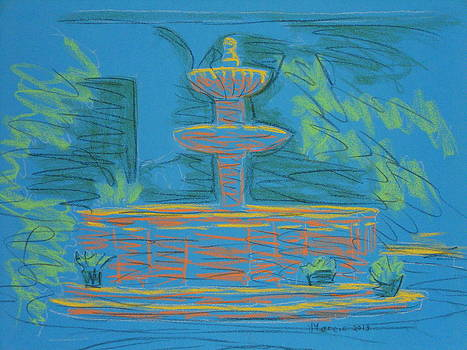 Blue Fountain by Marcia Meade