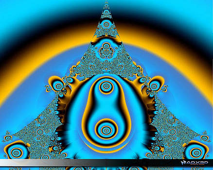 Blue Fractal 01 by A Dx