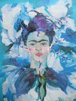 Blue Frida by Joyce Garvey