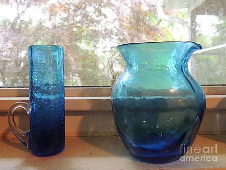 Blue Glass on the Window Sill by Pamela Rivera