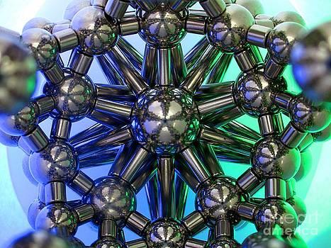 Blue Green StarFlower by Mark Teeter