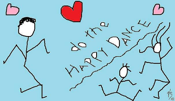 Blue happy Dance by Vivian Sutherland