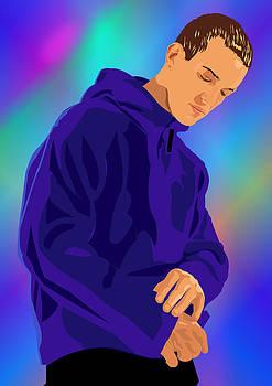 Blue Hoodie by Adz Akin