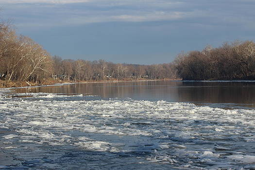 Blue January Potomac by JB Stran