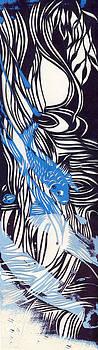 Alfred Ng - blue koi paper cut