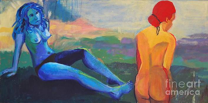 Blue Lady - Velvet Lady by Emilia Gasienica-Setlak