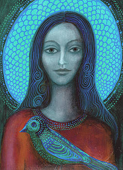 Blue Madonna by Alice Mason