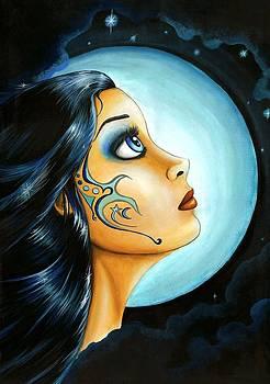 Blue Moon goodess by Elaina  Wagner