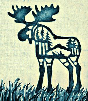 Blue Moose by Larry Campbell
