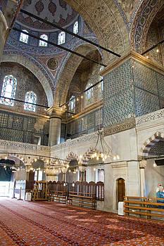 Blue Mosque Vertical by Cliff C Morris Jr