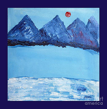 Blue Mountain oil on canvas by Purnima Jain
