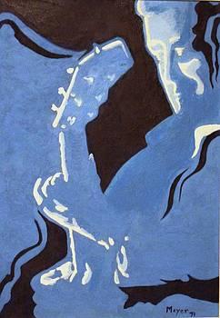 Blue Musician by Meyer Van Rensburg