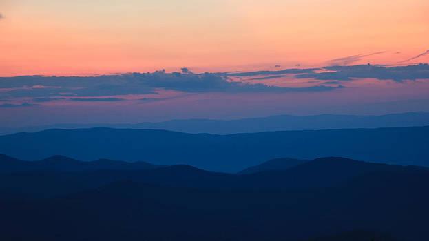 Blue Ridge Mountain at Sunset by Kaye Seaboch