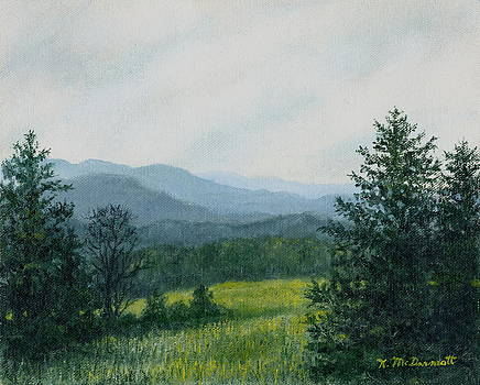 Blue Ridge Mountain Meadow - After the Rain by Kathleen McDermott