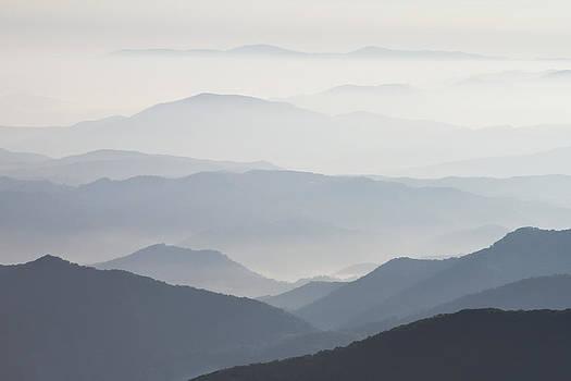 Blue Ridge Mountains View from Roan Mountain Balds by Bill Swindaman