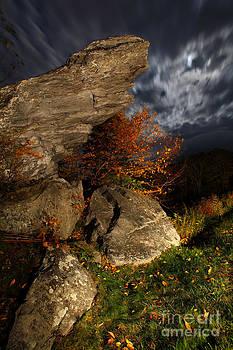 Dan Carmichael - Blue Ridge Parkway at Night under Full Moon