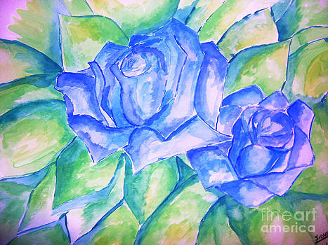 Blue Roses by Sidney Holmes
