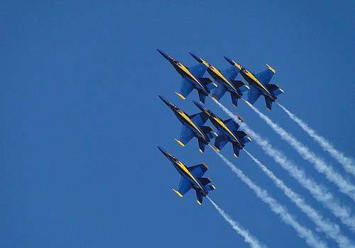 Blue Skies and Blue Angels by Barrie Woodward