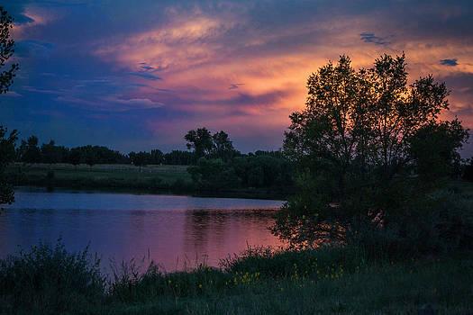 Blue skies at night by Linda Storm