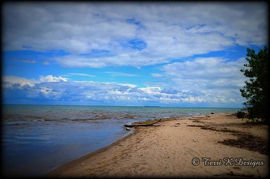 Blue Sky Beach by Terri K Designs