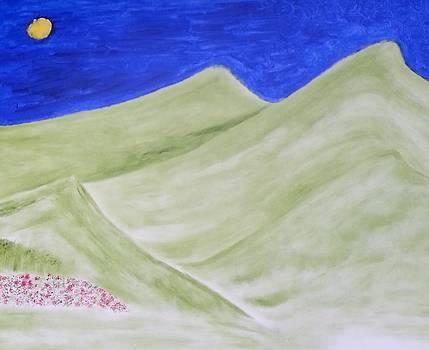 Blue Summer Sky by Leena Samat Kuchadiya