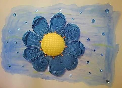 Blue Sunflower by Karen Jensen