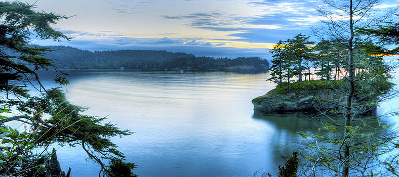 Blue Sunset Evening Panoramic by Rod Mathis