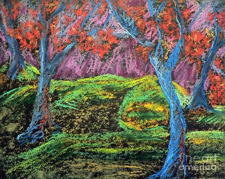 Central Park Blue Tempo 2 by Elizabeth Fontaine-Barr