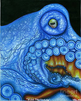 Blue Tentacles by Taryn  Libby