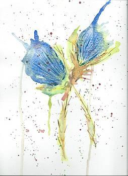 Blue Thistle by Annette Bingham
