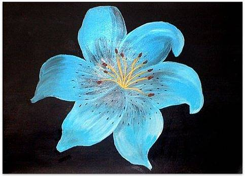 Blue Tiger Lily2 by Sandy Wager