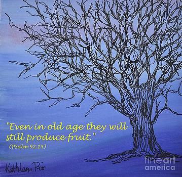 Blue Tree by Kathleen Pio