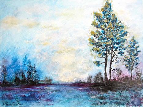 Blue Trees by Nikolina Gorisek