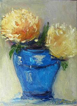 Blue vase color study by Barbara Anna Knauf