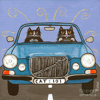Blue Volvo Cats by Ryan Conners