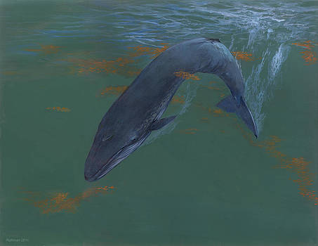 Blue Whale by ACE Coinage painting by Michael Rothman