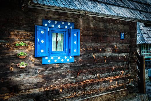 Blue window by Dobromir Dobrinov