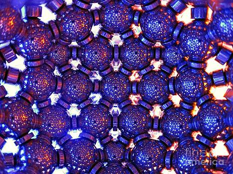 Blue Yellow Hexagonal lattice by Mark Teeter