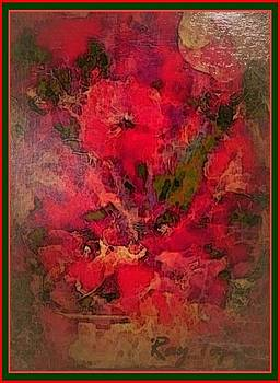 Blushing Red Flowers  by Ray Tapajna