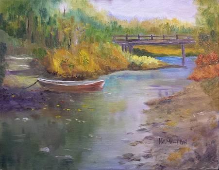 Boat and Bridge by Larry Hamilton