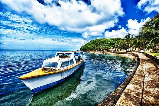 Boat by the Ocean by JM Photography
