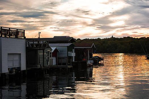 Boat House Sunset by John Baumgartner