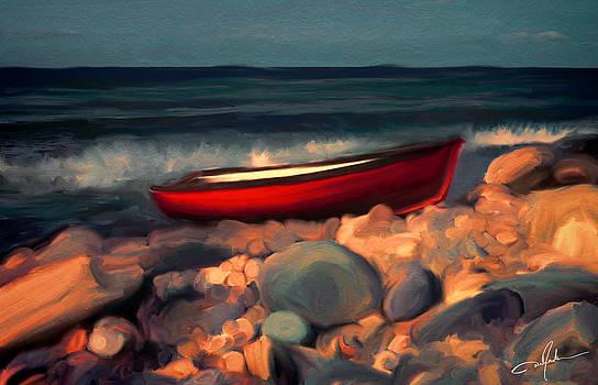 Dale Jackson - Boat on a Rocky Beach