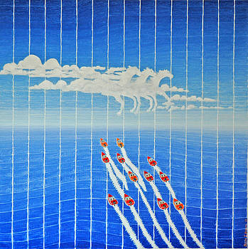 Boat Race Horse Clouds by Jesse Jackson Brown