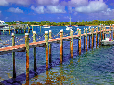 Boat Dock To Paradise by Crissy Anderson