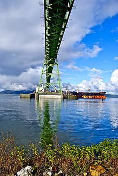 Boat under Bridge by Rae Berge
