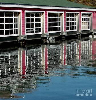 Gail Matthews - Boathouse Reflection