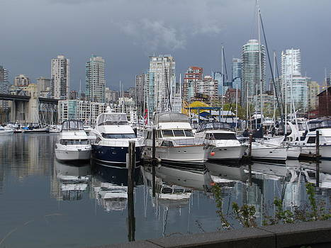 Boats At Rest Vancouver by Pamela Funk